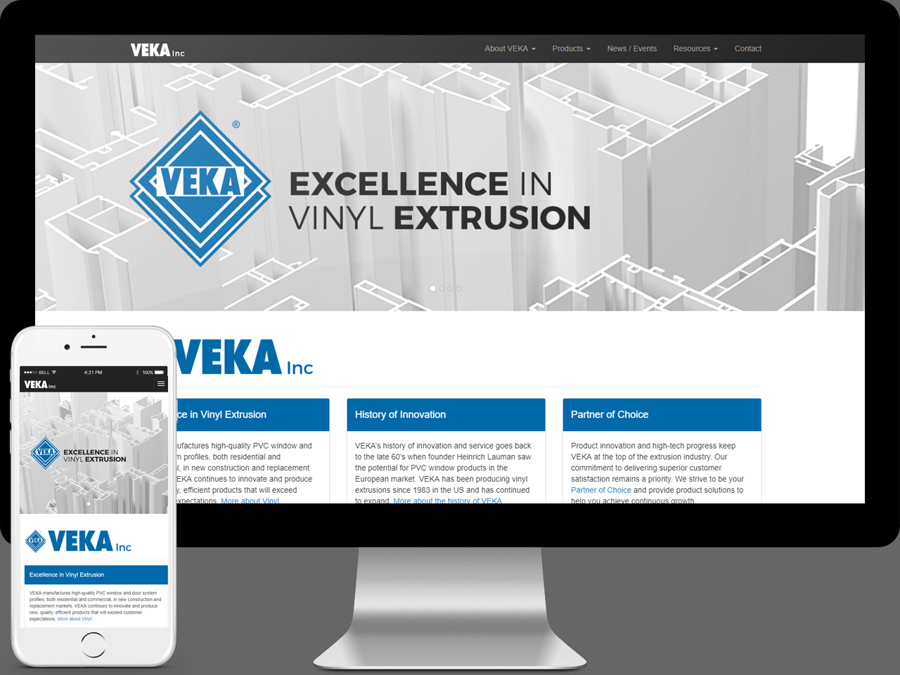 VEKA Inc Web Design and Development